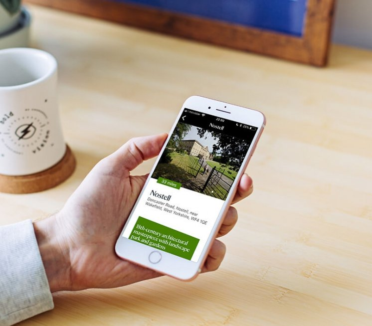 National trust days out members app screen